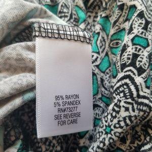Dana Buchman Tops - Dana Buchman ~ Medallion Print Short Sleeve Blouse